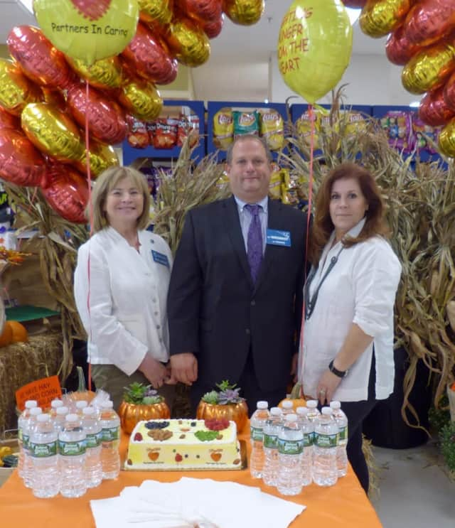 Shown at the New Milford ShopRite are, from left, Councilwoman Hedy Grant, Ari Weisbrot, and Councilwoman Thea Sirocchi-Hurley.