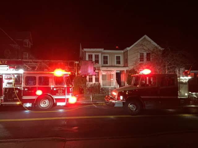 The New Paltz Fire Department responded to an alert about an attic fire on Friday night.