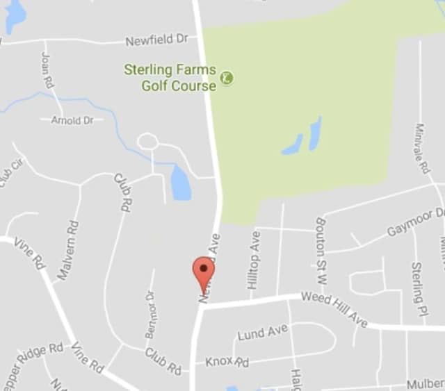 A section of Newfield Avenue in Stamford is closed due to an accident that took out a utility pole