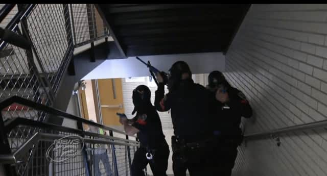 Police participated in an active shooter drill on Thursday.