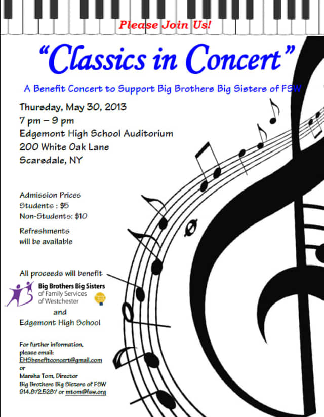 "Edgemont High School Student musicians will perform the classics at ""Classics In Concert"" to benefit Big Brothers Big Sisters."