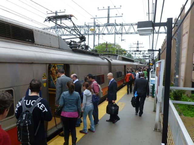 The South Norwalk train station