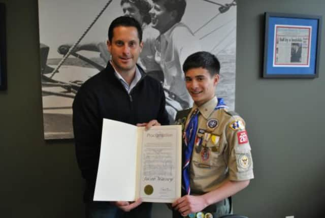 Jacob Wassey of Yorktown Troop 267 became an Eagle Scout.
