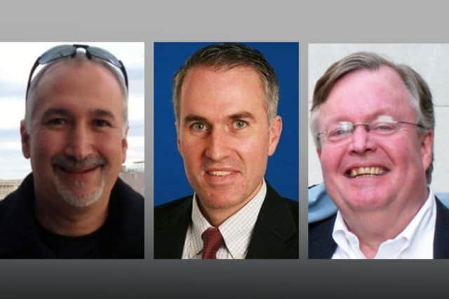 From left, Mark Lipton, Jeff Holbrook and Richard Stone are running for Katonah-Lewisboro School Board. Not pictured: Peter Treyz.