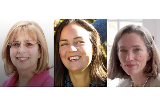 (from left) Deborah D'Agostino, Jennifer Binette and Katherine Daniels were elected to the North Salem School Board.