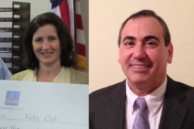 Jennifer Liddy-Green, left, Vincent Nadile, right, and Carol Banino, not pictured, were elected to the Board of Education on Tuesday.