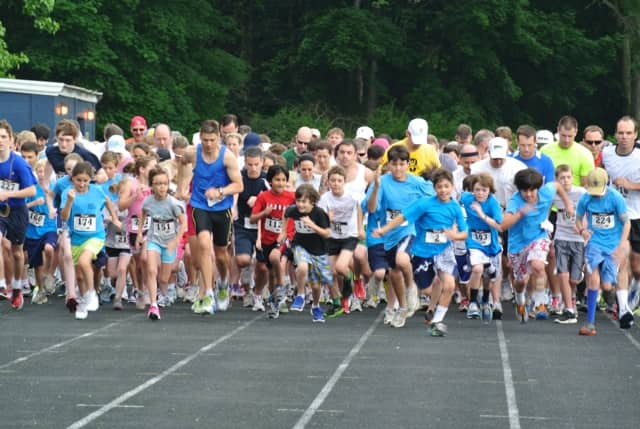 Runners of all ages participate in last year's Get Smart For Wilton 5K, which raises funds for all of Wilton's public schools.