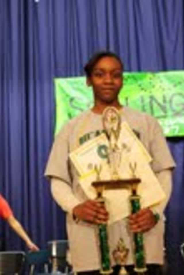 Woodlands Middle School student Chanya Holness will represent her community at the Scripps Spelling Bee in Washington D.C.