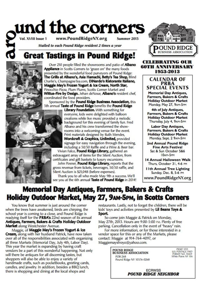 The Pound Ridge Business Association Summer 2013 newsletter is now available.