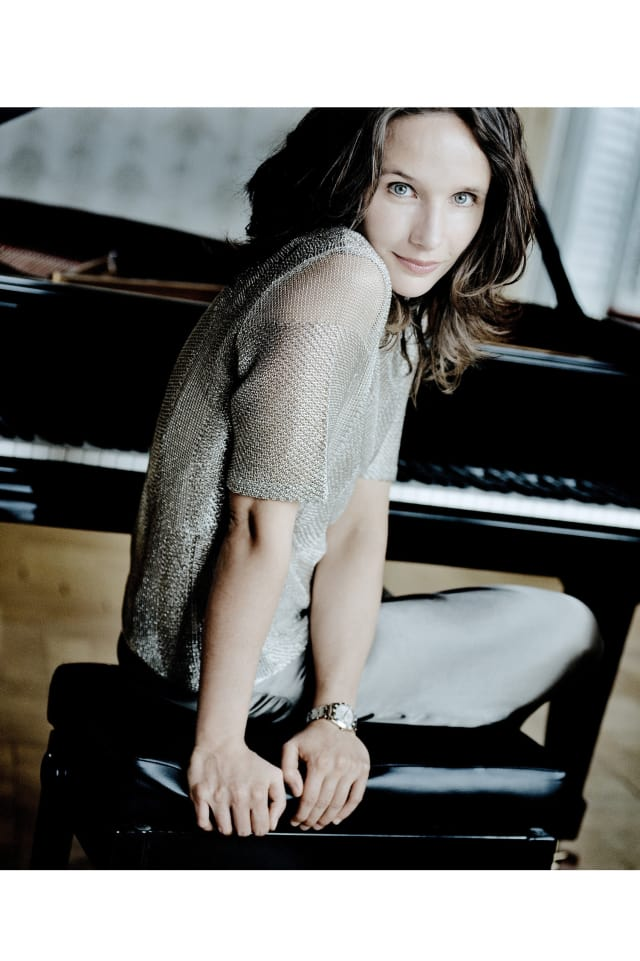 Acclaimed international pianist Helene Grimaud will perform at John Jay Middle School in Cross River.