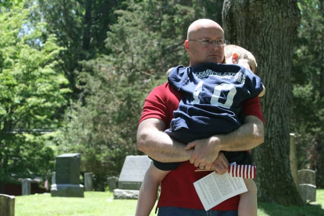 Memorial Day ceremonies took place on Burial Hill in Pound Ridge.