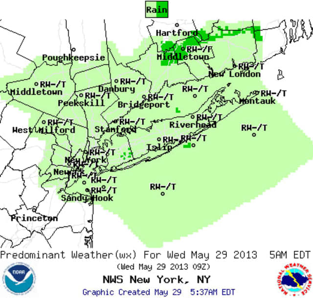 Thunderstorms are expected to pass through Westchester until 9 p.m. tonight.