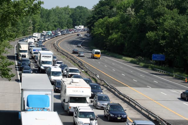 AAA New Jersey is predicting traffic to be at an eight-year high in Bergen County and the metro region from Thursday through Labor Day.