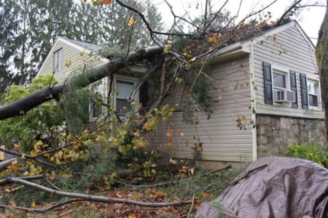 A home on North Salem's Daniel Road was damaged during Hurricane Sandy.