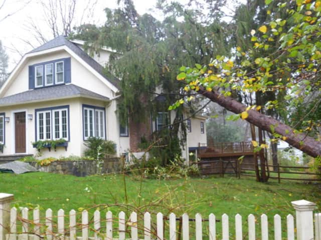 A home in Katonah was damaged during hurricane Sandy.