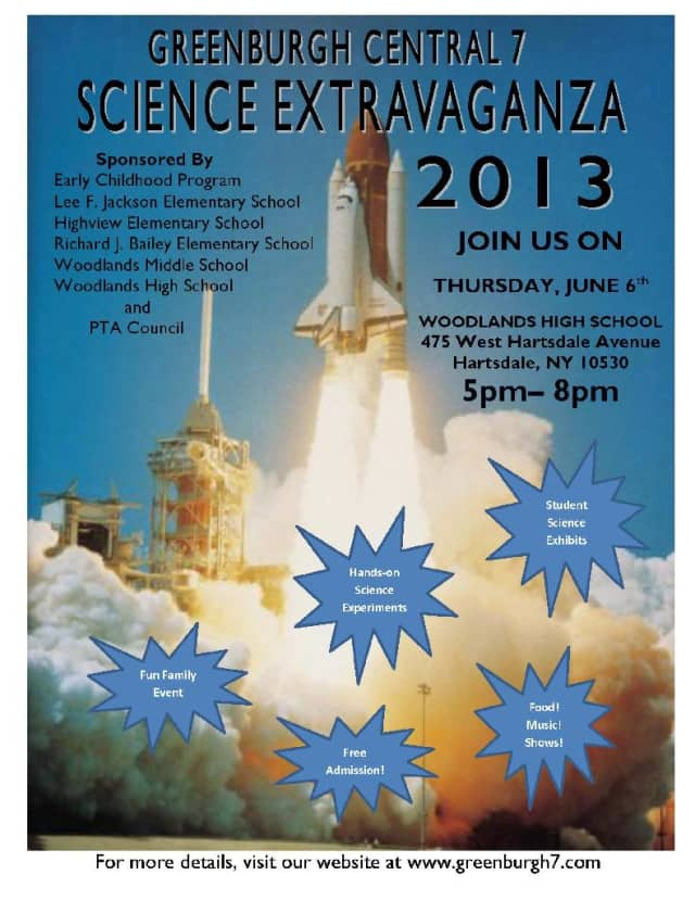 """The Greenburgh Schools will host the 2013 """"Science Extravaganza"""" Thursday."""