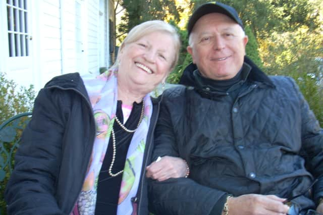 George Kooluris, with Gramatan Village member Gertrude Costello, volunteers to drive members to appointments.
