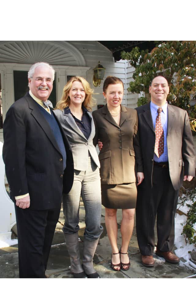 (from left) Pound Ridge Democratic candidates Ira Clair, Alison Boak, Sherene De Palma and Dan Paschkes.