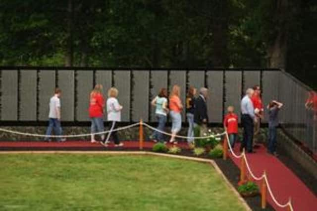 """A replica of the Vietnam Veterans """"Moving Wall"""". like this one on display in Tennessee last year, will be in Hastings in July."""