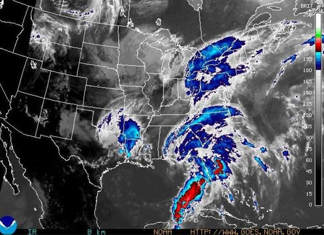 The National Weather Service issued a flash flood watch for Westchester County Thursday afternoon ahead of Tropical Storm Andrea.
