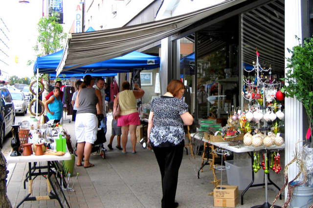 The Bronxville sidewalk sale will take place Friday and Saturday, rain or shine
