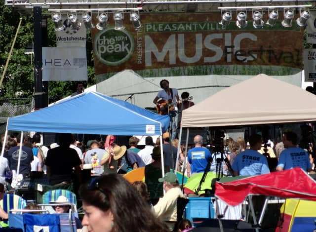 The Pleasantville Music Festival starts at noon.