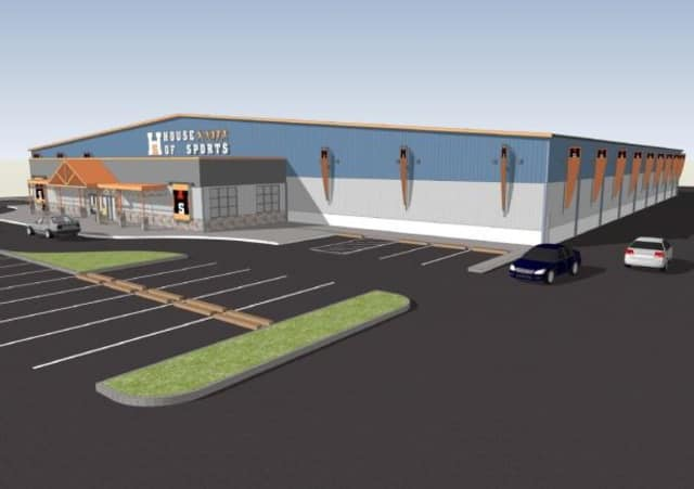 An artists rendition of House of Sports' plan for the Frank's Nursery property in Greenburgh.