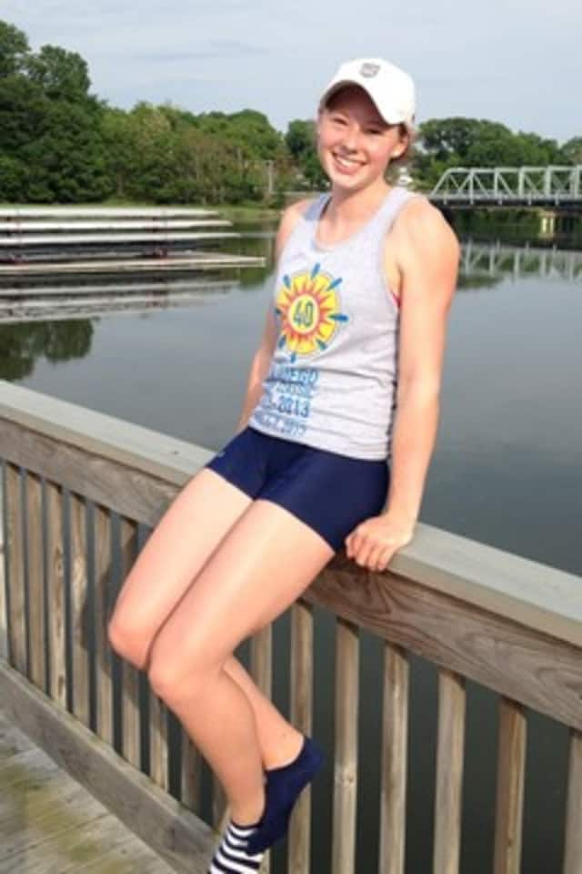 Wilton rower Mary Beth Greer competed in USRowing Youth National Championships Saturday.
