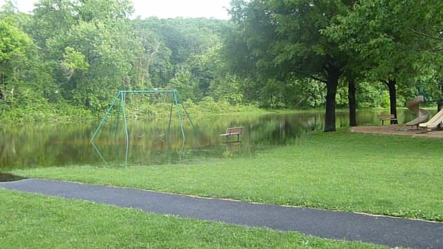 Ardsley's Macy Park experience flooding after the heavy rains in the Rivertowns this week.