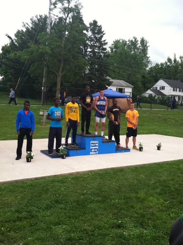Eastchester High School senior Jon Alkins earned the silver medal in the 200-meter dash.