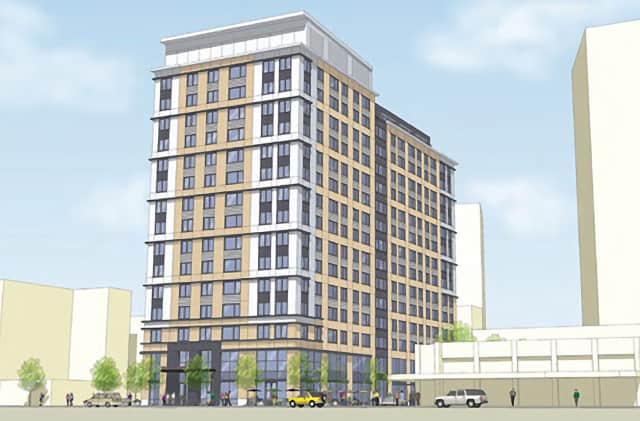ICON architecture, inc.'s rendering shows the second phase of Trinity Financial's Park Square West, which will be located at 66 Summer St. in Stamford.
