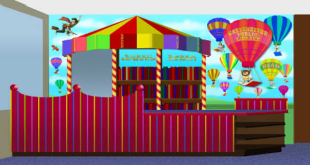 An artist's rendering of the proposed renovation to the Children's Room at the Eastchester Public Library.