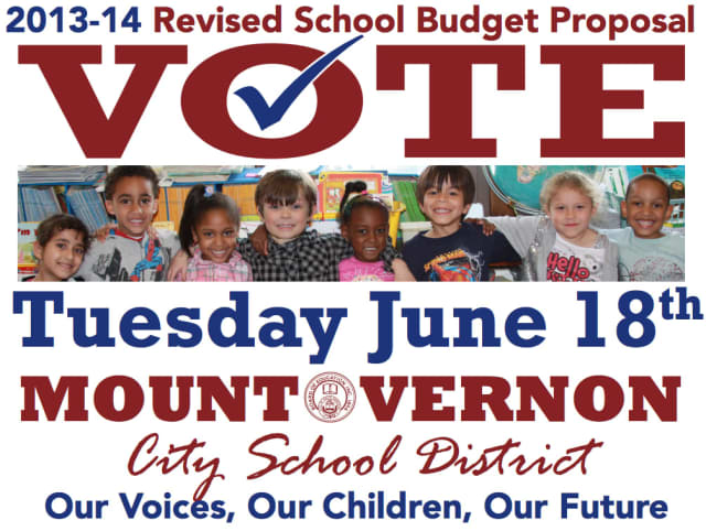 These posters have been plastered around Mount Vernon encouraging voters to come to the polls on June 18.