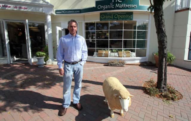 David Spittal of Putnam Valley sells organic mattresses and has stores in Mt. Kisco and Westport.
