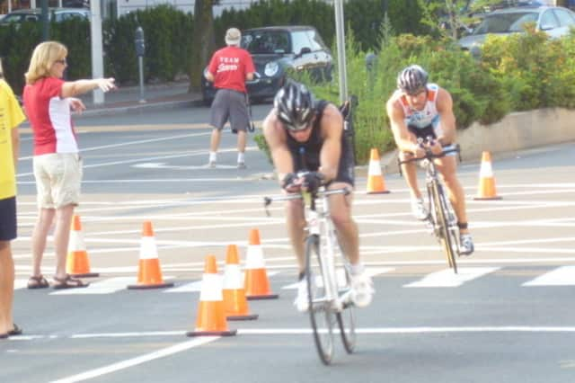 Cyclists hit the road in the KIC It Triathlon last year in Stamford.