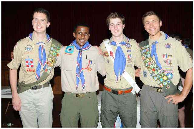 These four Bronxville Boy Scouts reached the top of their organization.