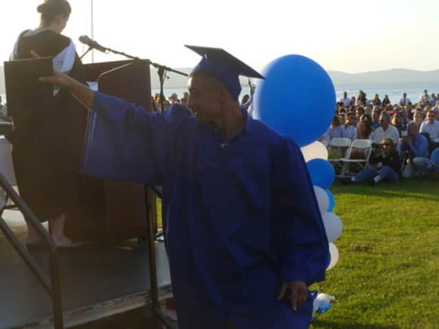 Dobbs Ferry High School will hold its graduation on the Hudson River waterfront Saturday.