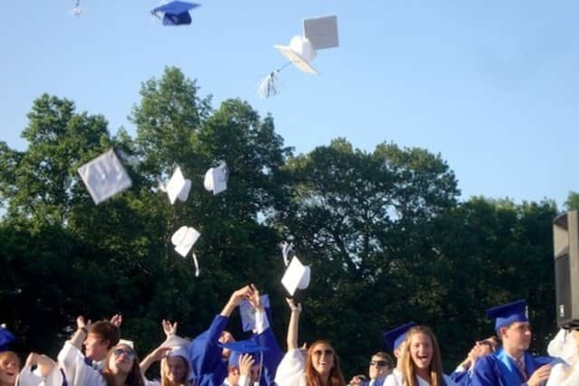 The Darien High graduation will take place in the stadium.