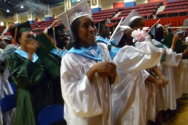 The Woodlands High School Class of 2013 graduates Friday at the Westchester County Center.