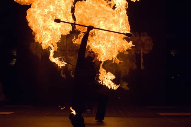 A Night on Fire brings fire juggling and comedy troupe extraordinare A Different Spin to Sleepy Hollow.