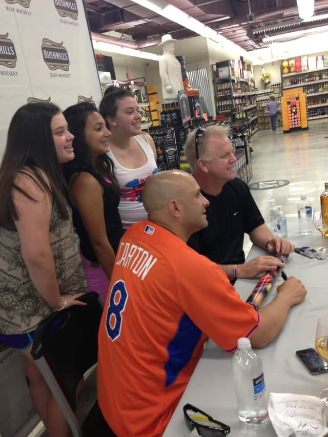 Fans had a chance to spend time with WFAN-Radio talk show hosts Boomer & Carton in Scarsdale. The morning sports radio team will play an annual celebrity softball game Aug. 18 in New Rochelle.