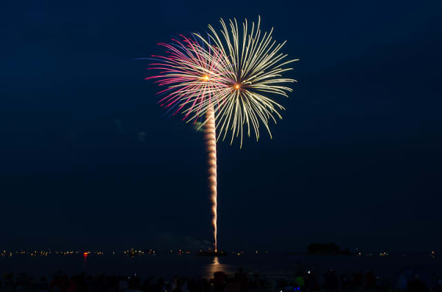 The Ridgefield town fireworks will be held on July 4th at Ridgefield High School.