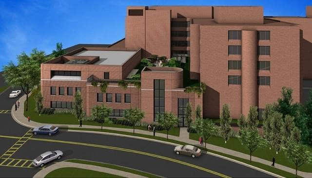 This artist's rendering gives an approximate estimate of what the new addition will look like in Bronxville.