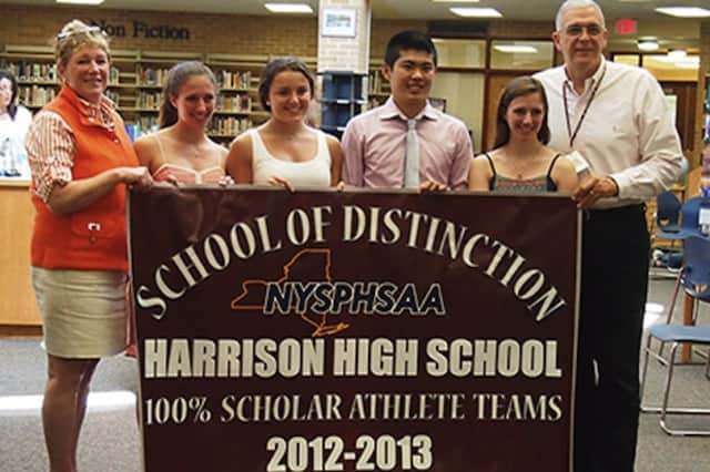 Harrison High School was named a Scholar-Athlete School of Distinction for having all sports teams with average GPA's of 90 percent or higher.