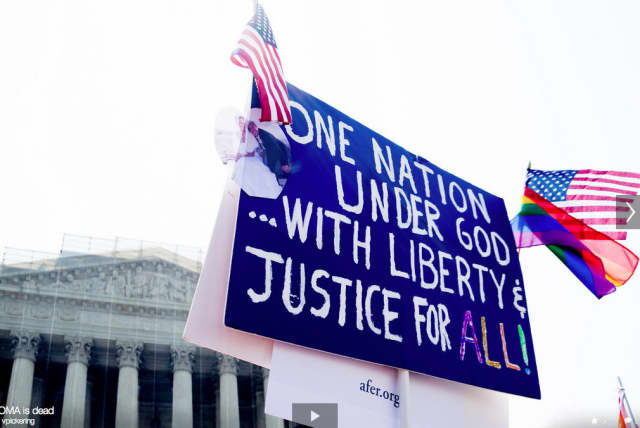 The Supreme Court ruled the Defense of Marriage Act unconstitutional.