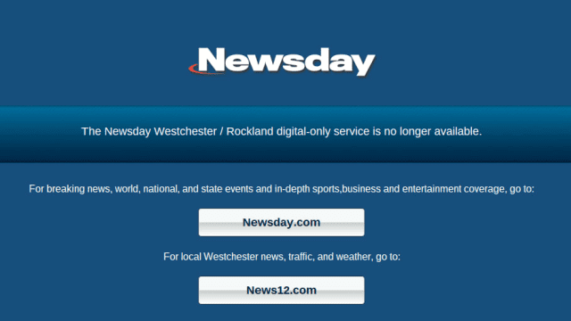 Cablevision Closes Newsday's Westchester Sites | White