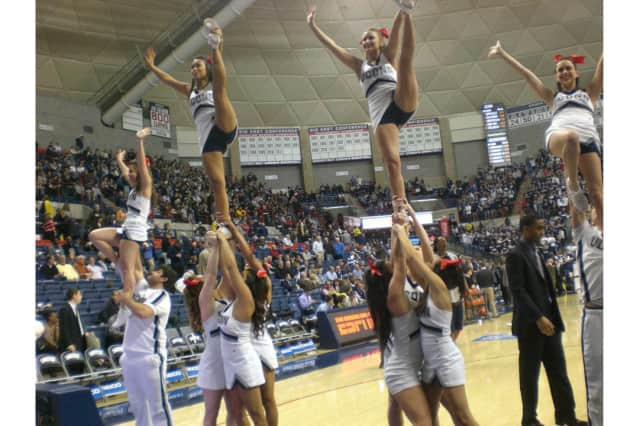 University of CT cheerleader Alyssa Paesano is hosting the North Salem camp.