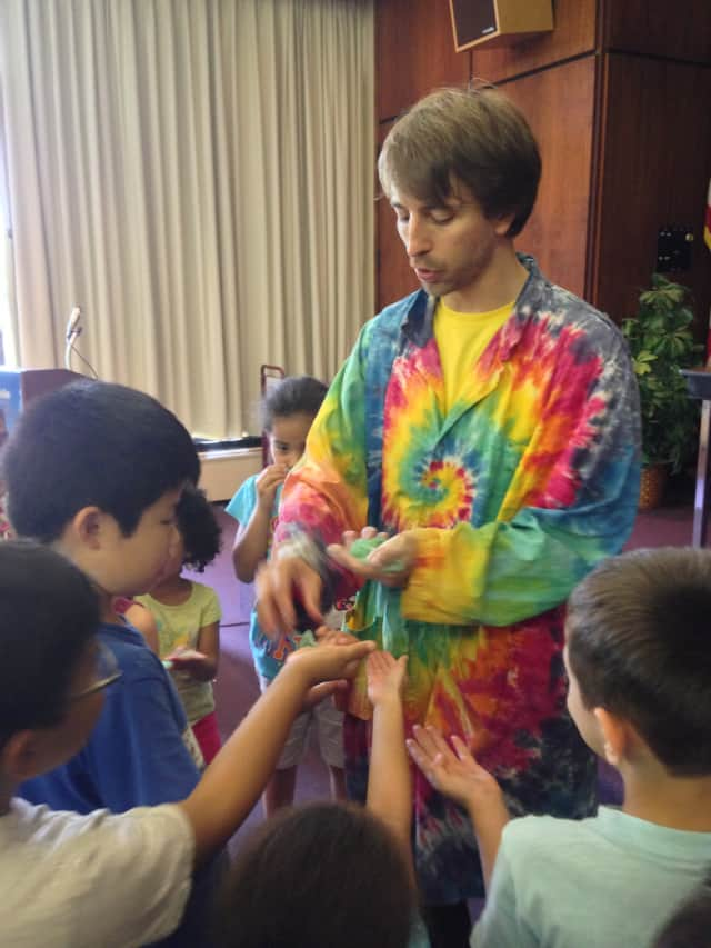 The Greenwich Library is offering a children's program by Sciencetellers, which is an organization that combines storytelling and science experiments into a theatrical learning experience.