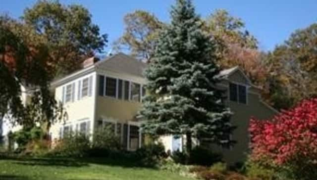This house at 294 West Mountain Road in Ridgefield will host an open house Sunday.