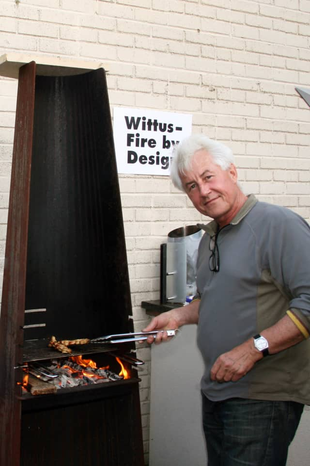 Niels Wittus cooked for residents on one of his stoves at A Taste of Pound Ridge.